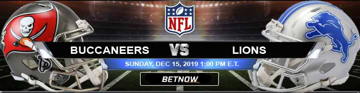Tampa Bay Buccaneers vs Detroit Lions 12-15-2019 Odds Predictions and Picks
