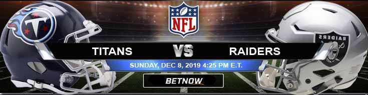 Tennessee Titans vs Oakland Raiders 12-08-2019 Predictions Picks and Odds