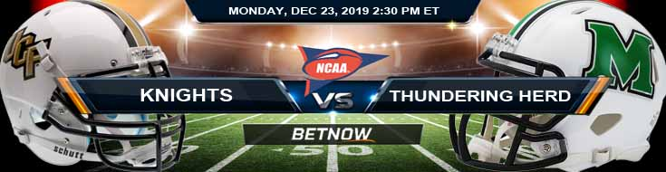 UCF Knights vs Marshall Thundering Herd 12-23-2019 Picks Odds and Predictions