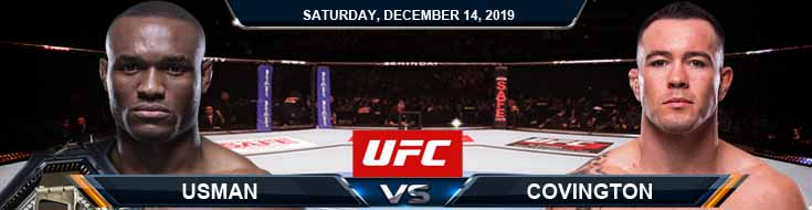 UFC 244 Kamaru Usman vs Colby Covington 12-14-2019 Picks Predictions and Previews