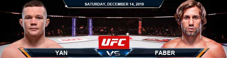 UFC 245 Urijah Faber vs Petr Yan 12-14-2019 Picks Spread and Previews