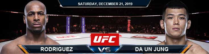 UFC Fight Night 165 Da Un Jung vs Mike Rodriguez 12212019 Spread, Previews and Odds