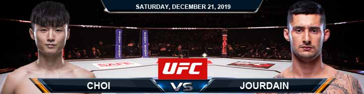 UFC Fight Night 165 Dooho Choi vs Charles Jourdain 12-21-2019 Picks Odds and Previews
