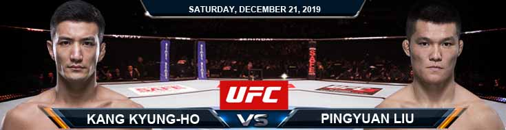 UFC Fight Night 165 Kyung Ho Kang vs Pingyuan Liu 12-21-2019 Picks Spread and Predictions