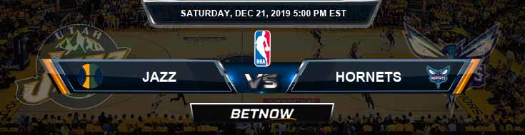 Utah Jazz vs Charlotte Hornets 12-21-19 Spread Previews and Prediction
