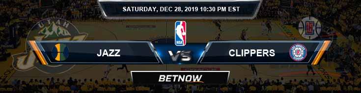 Utah Jazz vs Los Angeles Clippers 12-28-2019 Spread Picks and Previews