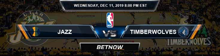 Utah Jazz vs Minnesota Timberwolves 12-11-19 Odds Picks and Previews