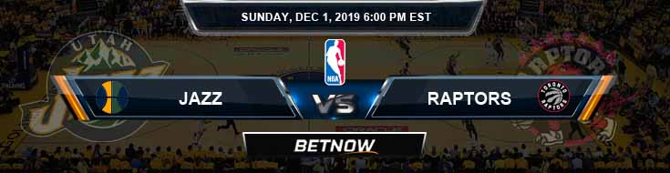 Utah Jazz vs Toronto Raptors 12-01-2019 NBA Odds and Game Analysis