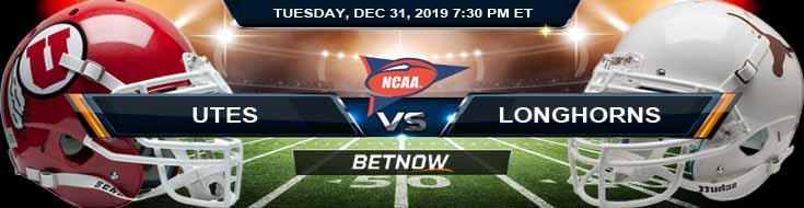 Utah Utes vs Texas Longhorns 12-31-2019 Spread Predictions and Odds