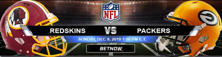 Washington Redskins vs Green Bay Packers 12-08-2019 Game Analysis Picks and Preview