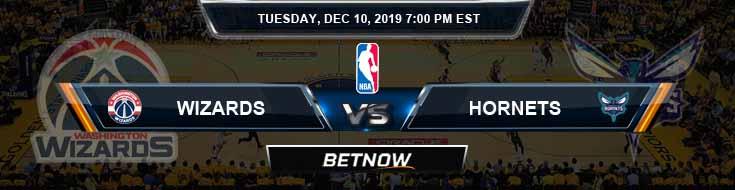 Washington Wizards vs Charlotte Hornets 12-10-19 Spread Picks and Previews