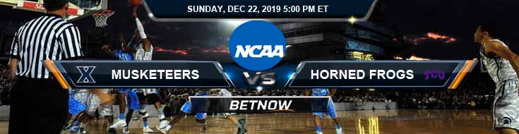 Xavier Musketeers vs TCU Horned Frogs 12-22-2019 Picks Predictions and Previews