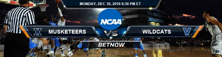 Xavier Musketeers vs Villanova Wildcats 12-30-2019 Odds Spread and Predictions