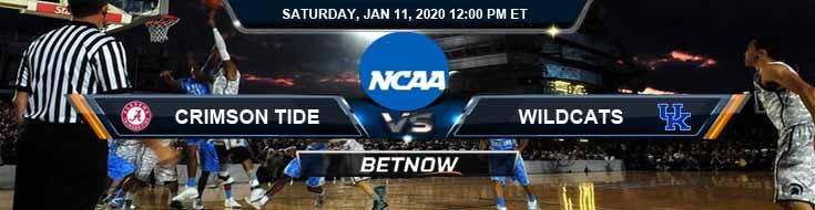Alabama Crimson Tide vs Kentucky Wildcats 01-11-2020 Odds Picks and Predictions