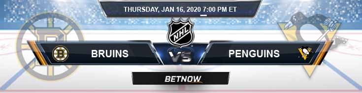 Boston Bruins vs Pittsburgh Penguins 01-16-2020 Picks NHL Betting Odds and Predictions