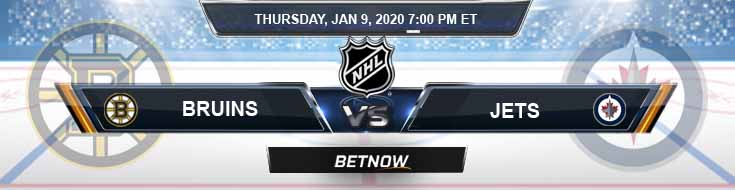 Boston Bruins vs Winnipeg Jets 01-09-2020 Picks, NHL Betting Odds and Previews