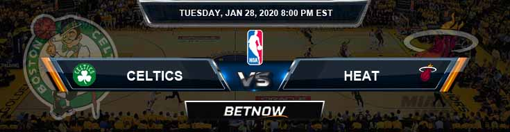 Boston Celtics vs Miami Heat 1-28-2020 NBA Odds and Game Analysis