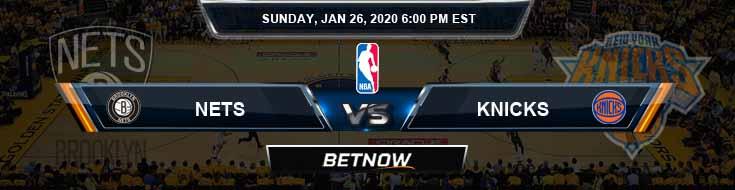 Brooklyn Nets vs New York Knicks 1-26-2020 Odds Picks and Previews