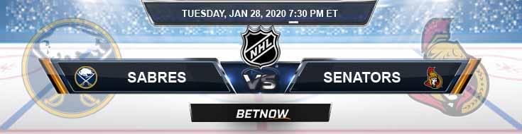 Buffalo Sabres vs Ottawa Senators 01-28-2020 NHL Predictions Betting Odds and Previews