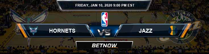 Charlotte Hornets vs Utah Jazz 1-10-2020 Spread Picks and Prediction