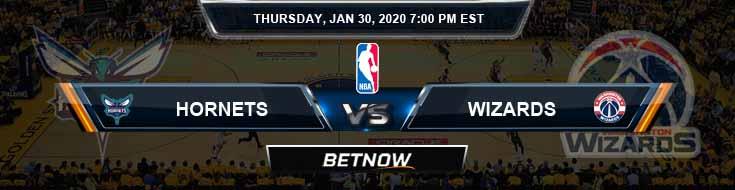 Charlotte Hornets vs Washington Wizards 1-30-2020 Odds Picks and Previews