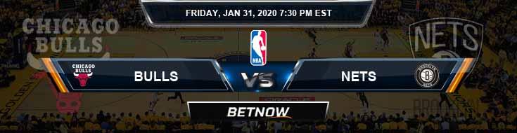 Chicago Bulls vs Brooklyn Nets 1-31-2020 NBA Odds and Game Analysis
