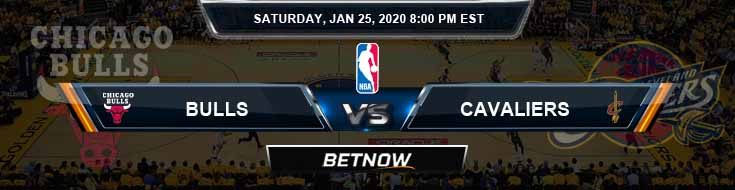 Chicago Bulls vs Cleveland Cavaliers 1-25-2020 Odds Picks and Previews