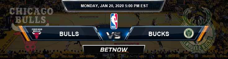 Chicago Bulls vs Milwaukee Bucks 1-20-2020 Spread Pics and Prediction