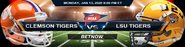 Clemson Tigers vs LSU Tigers 01-13-2020 College Football Playoffs National Championship