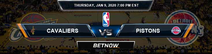 Cleveland Cavaliers vs Detroit Pistons 1-9-2020 Odds Picks and Previews