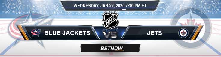 Columbus Blue Jackets vs Winnipeg Jets 01-22-2020 Predictions NHL Betting Odds and Picks