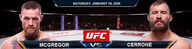 UFC 246 Conor McGregor vs Donald Cerrone 1/18/2020 Picks Predictions Previews