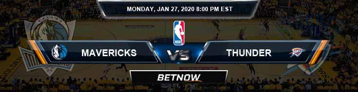 Dallas Mavericks vs Oklahoma City Thunder 1-27-2020 Spread Odds and Picks