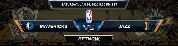 Dallas Mavericks vs Utah Jazz 1-25-2020 Spread Picks and Prediction