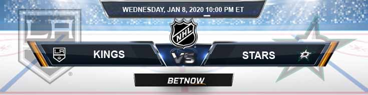 Dallas Stars vs Los Angeles Kings 01-09-2020 Odds Spread and Previews