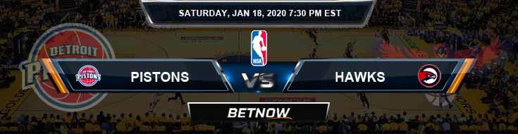 Detroit Pistons vs Atlanta Hawks 1-18-2020 Spread Picks and Prediction