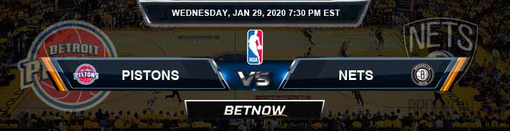 Detroit Pistons vs Brooklyn Nets 1-29-2020 Spread Picks and Prediction