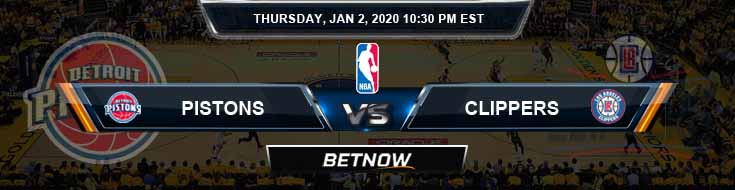 Detroit Pistons vs Los Angeles Clippers 1-2-2020 Spread Picks and Prediction