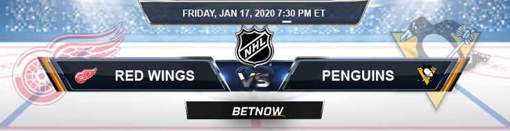 Detroit Red Wings vs Pittsburgh Penguins 01-17-2020 Spread NHL Betting Odds and Previews
