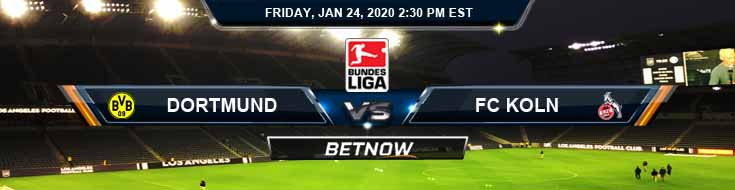 Dortmund vs Koln 01-24-2020 Picks Predictions and Betting Odds