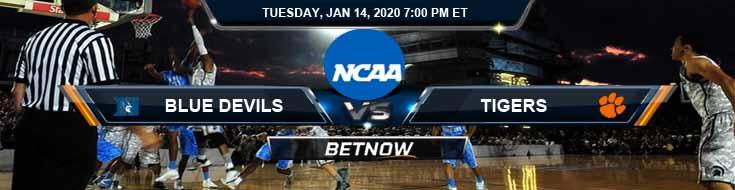 Duke Blue Devils vs Clemson Tigers 01-14-2020 Odds Picks and Spread