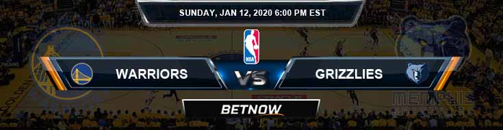 Golden State Warriors vs Memphis Grizzlies 01-12-2020 NBA Odds and Previews