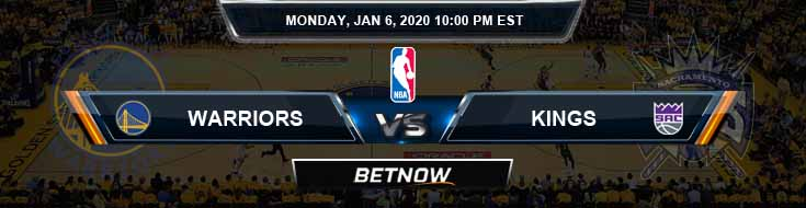 Golden State Warriors vs Sacramento Kings 01-06-2020 NBA Odds and Previews