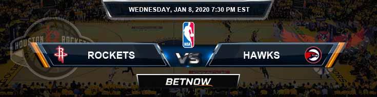 Houston Rockets vs Atlanta Hawks 1-8-2020 Spread Picks and Previews