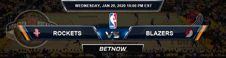Houston Rockets vs Portland Trail Blazers 1-29-2020 NBA Picks and Previews