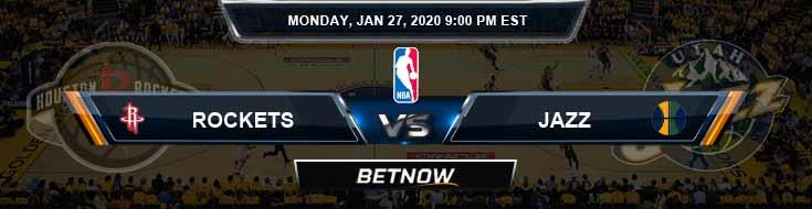 Houston Rockets vs Utah Jazz 1-27-2020 Odds Picks and Game Analysis