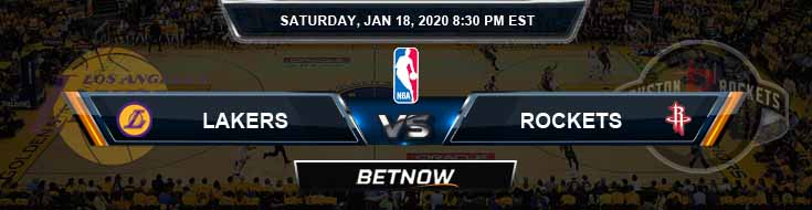 Los Angeles Lakers vs Houston Rockets 1-18-2020 Odds Picks and Previews