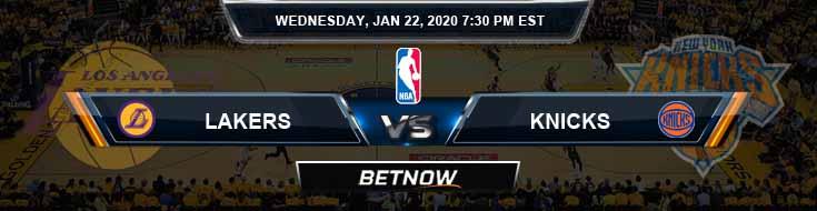Los Angeles Lakers vs New York Knicks 1-22-2020 Spread Odds and Picks