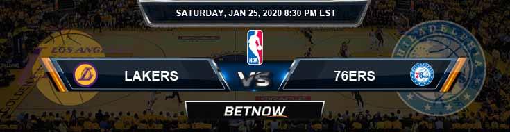 Los Angeles Lakers vs Philadelphia 76ers 1-25-2020 NBA Picks and Previews