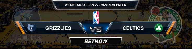 Memphis Grizzlies vs Boston Celtics 1-22-2020 Odds Picks and Previews